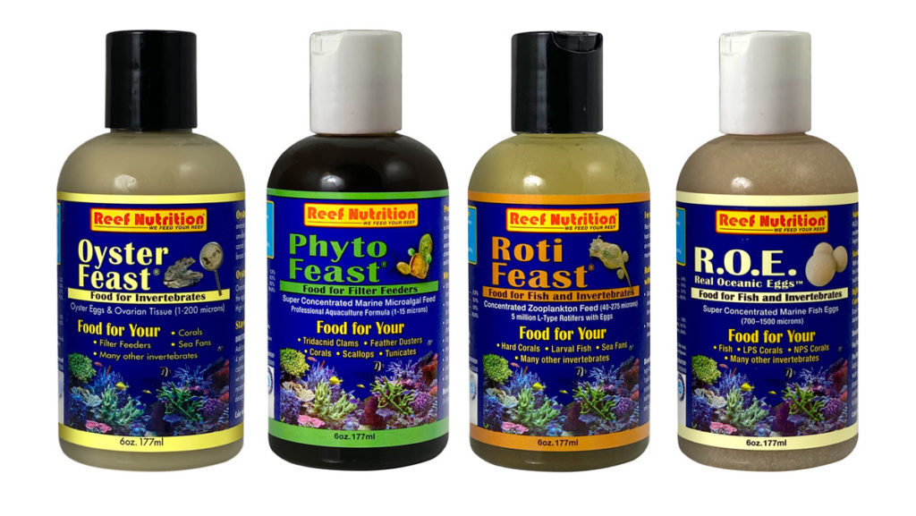 Reef Nutrition's Oyster-Feast®, Phyto-Feast®, Roti-Feast® and R.O.E. Real Oceanic Eggs™ now last even longer!