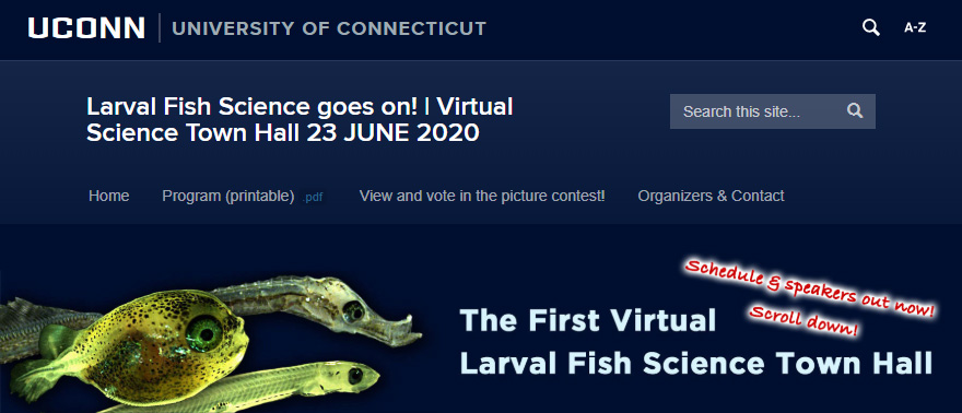 The First Virtual Larval Fish Science Town Hall