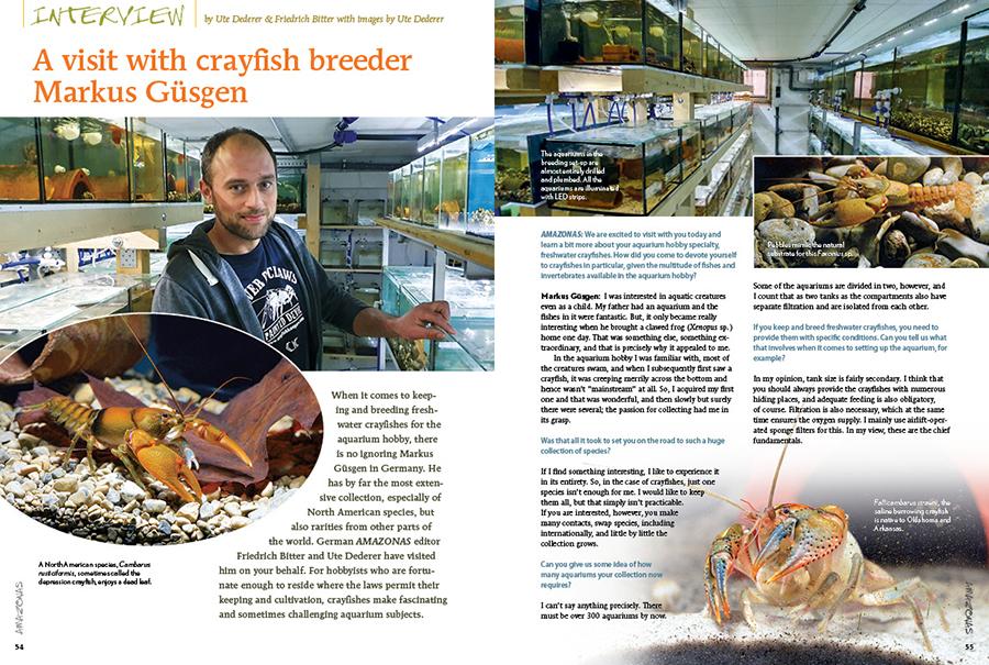 Ute Dederer & Friedrich Bitter bring you along for a visit with crayfish breeder Markus Güsgen