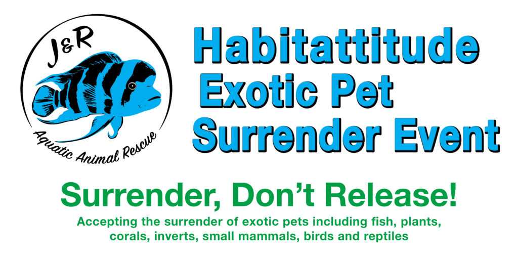 Habitattitude Exotic Pet Surrender Events are planned for several locations around the state of Wisconsin in late 2020.