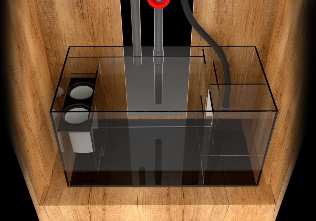 A look at the sump design for the MARINE X series of Waterbox aquarium systems.