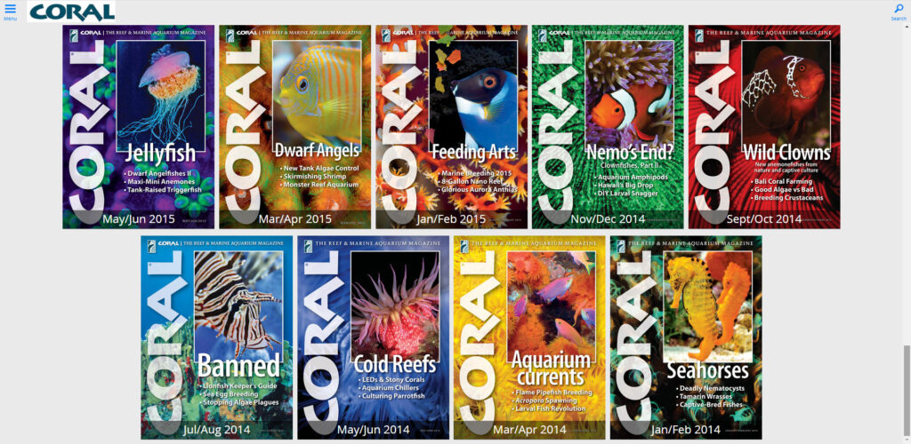 Did You Know? Digitally Search CORAL Magazine