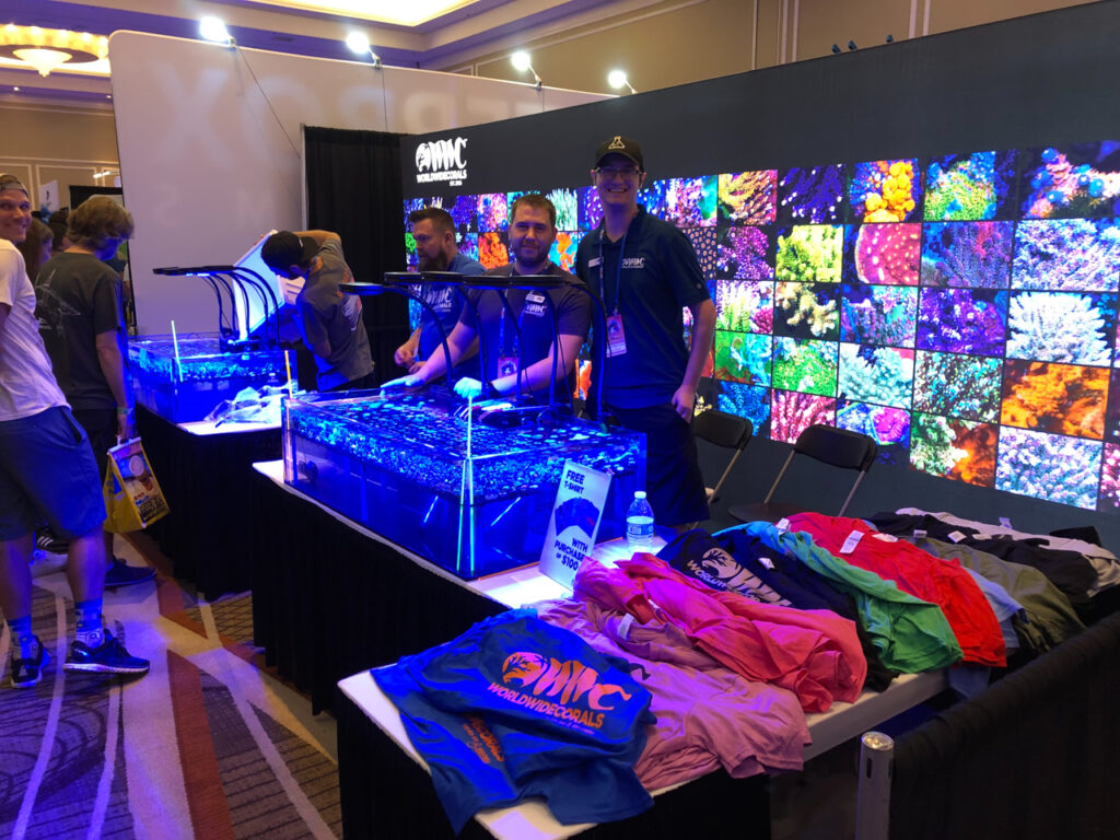 No shortage of corals and reef gear at a Reef-A-Palooza!