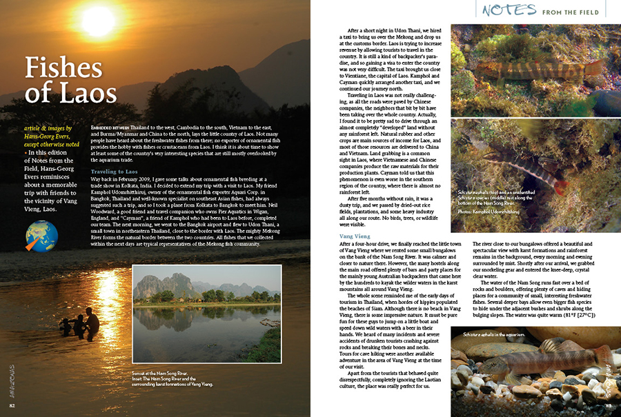 In this edition of Notes from the Field, Hans-Georg Evers reminisces about a memorable trip with friends to the vicinity of Vang Vieng, Laos.
