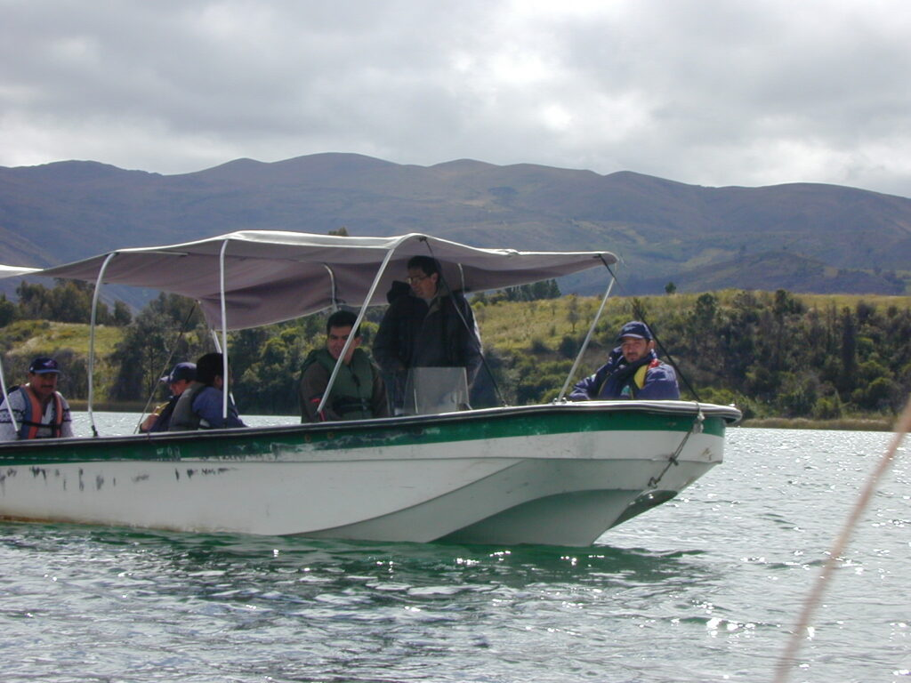 A team last searched Lake Tota for the lost fat catfish in 1999. © Dr. Ian Harrison