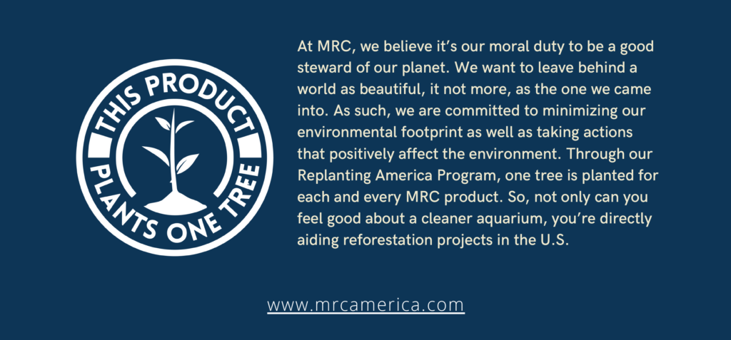 MRCs' pledge is to plant one tree for each MRC product through the Replanting America Program.